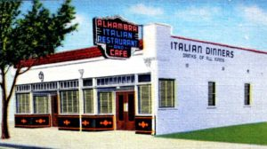 The Alhambra Italian Restaurant operated across the street from the Alhambra Theatre from 1936 to 1957. (Photo courtesy of the Lance Armstrong Collection)
