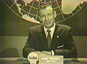 Committed to fulfilling its promise to the FCC that it would provide local programming, Channel 10, which was the first VHF station in Sacramento, hired its first anchorman Hank Thornley, pictured here. (Photo courtesy KXTV Channel 10)