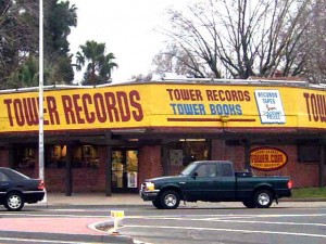 Tower Records, shown in this 2005 photograph, was a Sacramento institution at the corner of 16th Street and Broadway for nearly a half-century. (Photo by Lance Armstrong)