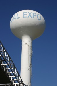 The Cal Expo water tower is a longtime iconic landmark of the fairgrounds. (Photo by Lance Armstrong)