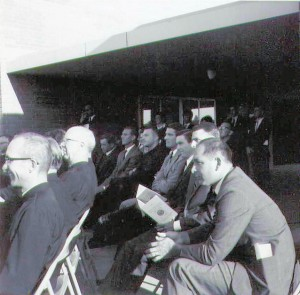 Jesuit High School faculty members attend the school's first graduation ceremony in 1967. (Photo courtesy of Jesuit High School)
