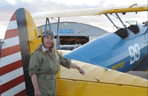 Ultimately, this P-17 Stearman biplane came into the hands of former Pocket-area resident (and pilot) Nancy Ginesi-Hill in 2008. (Photo courtesy Wild-Bills.com)
