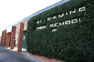 El Camino High School at 4300 El Camino Ave., at Eastern Avenue, opened in September 1950. (Photo by Lance Armstrong)