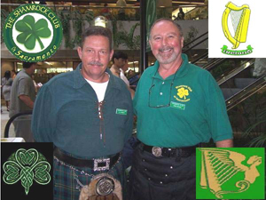 Shamrock Club President Chris Brown, right, and Vice President CJ Kennedy are among about 100 members of their club, which was formed as Sacramento's only Irish club in 2005. (Photo courtesy of The Shamrock Club of Sacramento)