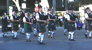 The White Hackle Pipe Band will be among the performers in this year's St. Patrick's Day Parade in Old Sacramento. (Photo courtesy of The Shamrock Club of Sacramento)