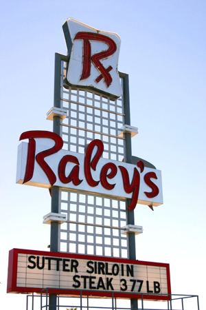 This historic sign advertises for one of oldest existing Raley's stores, the 4850 Freeport Blvd. store, which opened on Dec. 1, 1958. (Photo by Lance Armstrong)