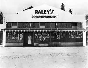 Tom Raley opened his first Raley's store on Main Street in Placerville in 1935. (Photo courtesy of Raley's Archives)