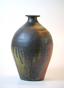 Rob Barnard, Vase, 1994. Stoneware, wood-fired, 9 3/4 x 6 in. Promised gift of Josseline and Rob Wood.