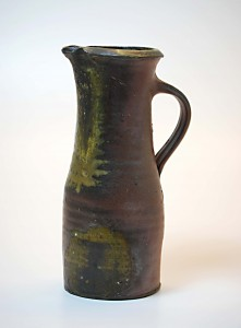 Rob Barnard, Jug, 1997. Stoneware, wood-fired, 10 1/2 x 4 in. Promised gift of Josseline and Rob Wood.