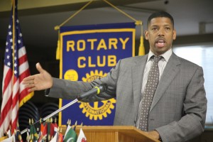Sacramento Mayor Kevin Johnson spoke to area business leaders at Cook Realty and the Rotary Club of East Sacramento in August. The overall theme of both meetings was: Sacramento can do better.