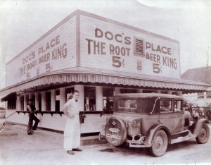 "Doc's Place, which opened in 1931 and was known as ""The Root Beer King,"" was an East Sacramento institution for three decades. / Photo courtesy of Jim Campbell"