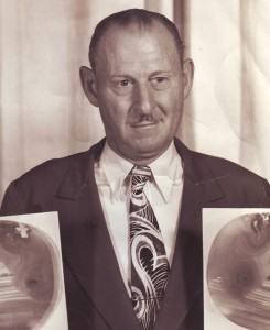 Doc Campbell, shown in this late 1940s photograph, opened his popular root beer and hot dog eatery, Doc's Place, at 5201 Folsom Blvd. in 1931. / Photo courtesy of Jim Campbell