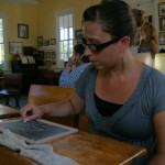 Christiana Chavez experiences history in the Old Sacramento one-room schoolhouse.