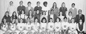 The Senior Class Council of the C.K. McClatchy High School Class of 1970 is seeking all members of their graduating class to celebrate 40 groovy years since graduation. Top row, left to right, Tom Steinbrenner, Doug Gedestad, Gerry Ulm, Steve Warren, Carol Simmons, Jocie Holkko, Joanne Franusich, Keith Tocherterman. Second row, Shirley Booth, Jill Watanabe, Chris Patino, Debbie Tucker, Debbie Thornton, Julie Wilcox, Bruce Muramoto, Jackie Calvin, Karen Deiwert, Mr. Robert Heinitz. First row, Linda Donato, Debbie Dotters, Marion McCurdy, Jeanie O'Leary, Debbie Nakatomi, Kathy Akiyama, Eve Downey, Joanne Oto, Randall Ishida, Linda Melvin, Sharon Booth. / Photo courtesy of Randal Ishida