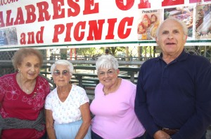 Margaret (DeFazio) Jacobs, Louise (Arcuri) Schultze, Rose Marie Pane and Anthony DeFazio are among the senior members of their families who enjoy sharing their family memories at the annual Calabrese Picnic. / Valley Community Newspapers photo, Lance Armstrong
