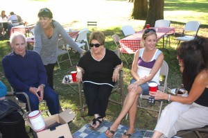 Family members enjoy each other's company at the 14th annual Calabrese Picnic at East Portal Park. / Valley Community Newspapers photo, Lance Armstrong