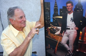 Land Park resident Ron King points to a photograph of Steve Sax, one of the top players who he scouted during his Major League Baseball scouting career. / Valley Community Newspapers photo, Lance Armstrong