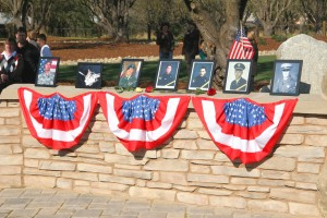 Photographs of the Wall of Honor's first inductees sit on the wall in 2008. / Photo courtesy of Carmichael RPD