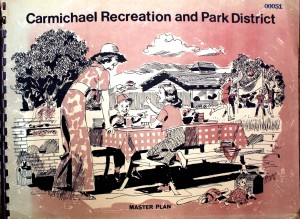 The Carmichael Recreation and Park District was established in 1945. Above, is a photograph of the cover of the district's 1973, 20-year master plan. / Photo courtesy of CRPD