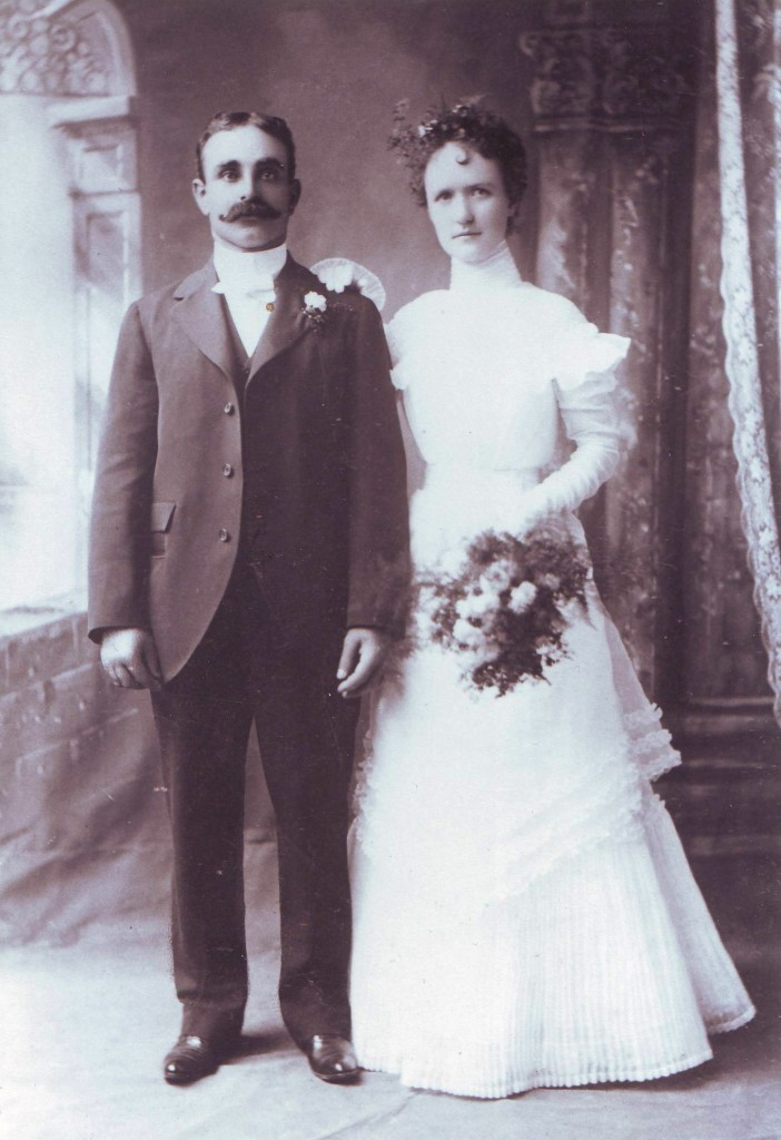 Charles F. Silva is shown with his first wife, Theresa (Kennedy) Silva, on their wedding day, Aug. 15, 1899. / Photo courtesy of PHCS