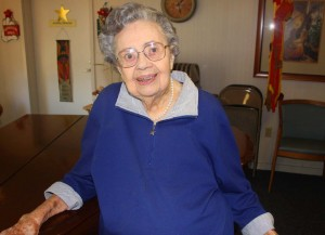East Sacramento centenarian Genevieve Cobb recently discovered a dozen black and white, family photographs that she had once intended to throw away. Some of the photographs are more than 100 years old. / Valley Community Newspapers photo, Lance Armstrong
