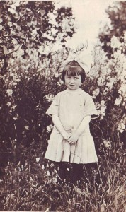 Genevieve Moore is shown at the age of 5 in this 1913 photograph. / Photo courtesy, Genevieve Cobb