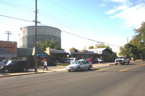 This present day view of J Street in East Sacramento shows the site of the city's first Jewish cemetery. / Valley Community Newspapers photo, Lance Armstrong