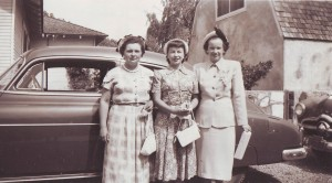 1950s members of the Pioneer Congregational Church's all-female Tri-S Club, which was founded in 1932. (Left to right) Mary Stacy, Lois Sucher and Marjorie McKesson. / Photo courtesy of Pioneer Congregational Church