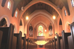 The Pioneer Congregational Church sanctuary is shown in this recent photograph. / Valley Community Newspapers photo, Lance Armstrong