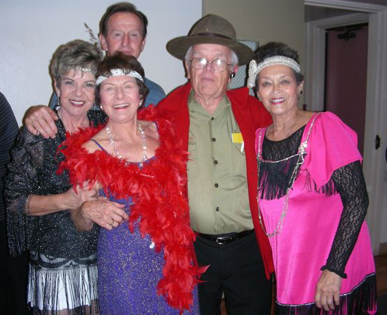Dancers show off their costumes at a recent Halloween-themed senior dance at the Mission Oaks Community Center. / Photo courtesy of Mission Oaks RPD