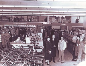 The interior of the two-story Riverside Boulevard Stop-N-Shop store is shown in this c. 1950 photograph. / Photo courtesy of the Kassis family