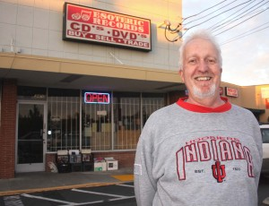 Esoteric Records owner Denis Tomassetti stands in front his longtime north area business at 3413 El Camino Ave. / Valley Community Newspapers photo, Lance Armstrong