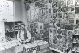 Rick Da Prato tends to his store in this c. 1978 photograph. / Photo courtesy, Esoteric Records