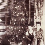 Russell Parrot, Jr. (right) sits in front of his family's Christmas tree with his brother, Richard Ray Parrot, in this 1939 photograph, which was taken at their family's home on Swanston Drive in Land Park. / Photo courtesy, Michelle (Parrot) Barra