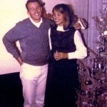Janet Nunn spends a light moment with her later-to-be husband, Lin Feil, during Christmas Eve in 1964. The photograph was taken in the Land Park home of Lin's parents. / Photo courtesy, Janet Feil