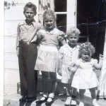 Land Park resident Missy (Jones) Stonehouse shared this 1949 photograph of herself and her siblings with The Land Park News. Shown left to right are: Mike, Jennifer, Jeff and Missy Jones. / Photo courtesy, Missy Stonehouse
