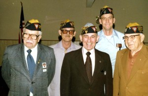 "P.R. ""Tony"" Tonelli (front, center) gathers together with other Fleet Reserve Association members in this 1981 photograph. / Photo courtesy of Tony Tonelli"