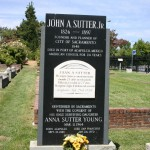 The final resting place of the city's founder, John Augustus Sutter, Jr., is one of the Sacramento Historic City Cemetery's most notable gravesites. / Valley Community Newspapers photo, Lance Armstrong