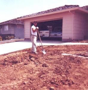 Norman Fernandez stands in front of his South Land Park Hills house. / Photo courtesy, Gail Fernandez Jones