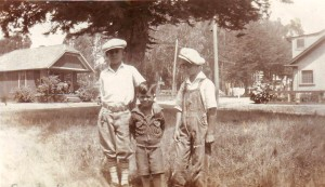 Norman Fernandez, center, is shown during his childhood with two unidentified youth in this 1926 photograph. / Photo courtesy, Gail Fernandez Jones