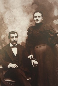 Manuel and Rosa (Miller) Waxon are shown in this c. 1894 photograph. / Photo courtesy