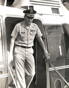 LTC Gene T. Boyer with Army One, during the Nixon Administration. / Photo courtesy