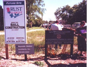 The present site of Rust Florist is shown on its groundbreaking day, Feb. 28, 1990. / Photo courtesy, Rust Florist