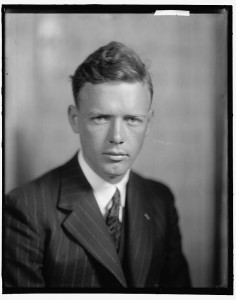Colonel Charles A. Lindbergh promoted the new field of aviation by making a three-month tour of the nation in 1927. He entertained Sacramentans with arial acrobatics upon his arrival. / Photo courtesy, Library of Congress