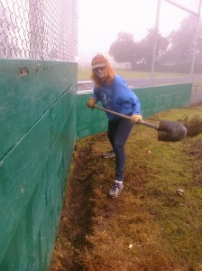 Photo courtesy The softball field at California Middle School is undergoing much-needed renovations. More funds are needed to complete the project.