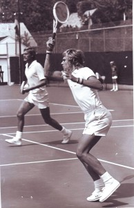 Bjorn Borg, who later became the number one ranked tennis player in the world, plays a match at the Sutter Lawn Tennis Club in the early 1970s. / Photo courtesy of SLTC