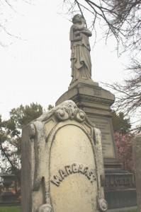 Margaret Crocker (1822-1901) is buried alongside her husband, Edwin Bryant Crocker, in the Sacramento Historic City Cemetery at 10th Street and Broadway. / Valley Community Newspapers photo, Lance Armstrong