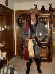 Jack G. Payne is dressed in his full wardrobe pirate attire for a day of sailing aboard of the Sea Eagle. / Photo courtesy of Jack G. and Brenda Payne