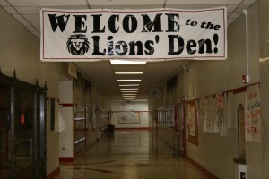 "School spirit at C.K. McClatchy is enthusiastic and filled with ""Lion Pride"" and the drive to leadership. Another banner inside the school says, ""It's better to be a Lion for a day than a sheep all your life."" / Photo courtesy C.K. McClatchy High School"