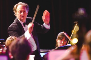 Michael Neumann conducts a performance by the Sacramento Youth Symphony. / Photo courtesy, Michael Neumann